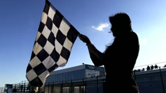Stock Video Footage of Checkered flag