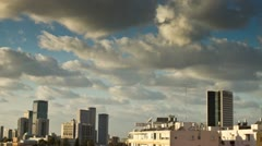 the clouds above Tel Aviv 03 - stock footage