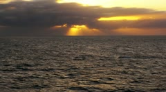 Ocean sunset 50p Stock Footage