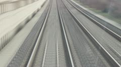 Speed railroads - stock footage