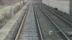 Railroad in the city - stock footage
