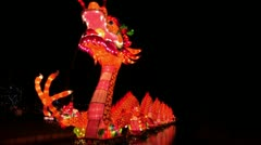 Chinese Lantern Of A Big Dragon Stock Footage