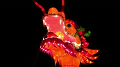 Chinese Lantern Of A Big Dragon Stock Footage