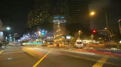 Streetcrossing Raffles City Stock Footage