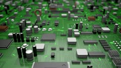 Electronic board - stock footage