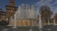 Stock Video Footage of Sforza Castle and artesian well, Milan, Italy