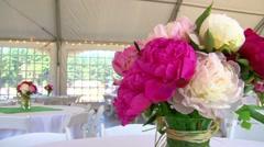 Wedding Flower Bouquet Centerpieces Stock Footage