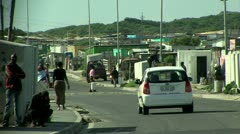 Township street in south africa Stock Footage