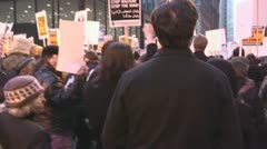 'Troops out now!' - Iraq War protest march - stock footage