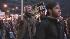 'Troops out now!' - Iraq War protest march Stock Footage