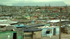View over a township south africa Stock Footage
