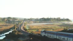 Tilt Shift Effect San Diego: Train going by Stock Footage