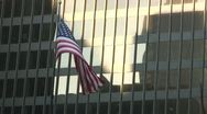 Stock Video Footage of American Flag downtown Chicago, IL