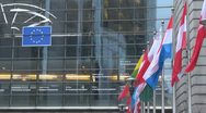 Stock Video Footage of European Parliament, Brussels, Belgium