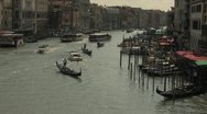 Bridge Sighs in Venice on Sunny Day Stock Footage
