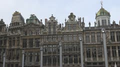 Guildhouses in Brussels, Belgium Stock Footage