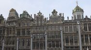 Stock Video Footage of Guildhouses in Brussels, Belgium