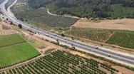 Aerial view of Road to Jerusalem  Stock Footage