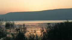 The Sea of Galilee at Dawn Stock Footage