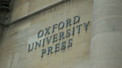 Oxford University Press Stock Footage