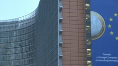 European Commission, Brussels Stock Footage