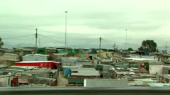 drive past shacks in a township south africa - stock footage