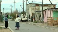 Township street scene in south africa Stock Footage
