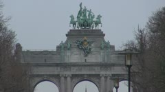 Triumphal Arch, Brussels, Belgium Stock Footage