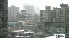 City Snowing, Mild Stock Footage