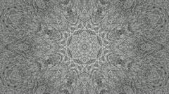 Kaleidoscope  white lines trippy - 3 of 3 Stock Footage