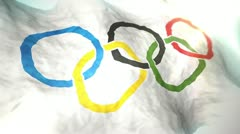 Flag Olympic 2012 1080p Stock Footage