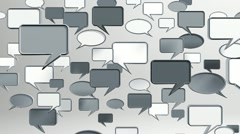 Many conversation icons grey Stock Footage