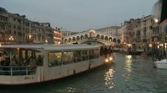 Rialto Bridge in Venice - stock footage