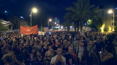 Tel Aviv protest demonstration 8 Stock Footage