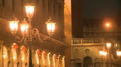 Architecture in Venice at night Stock Footage