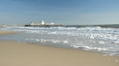 Bournemouth Beach and Pier Stock Footage