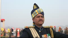 Indian Army Musical Bandmaster Stock Footage