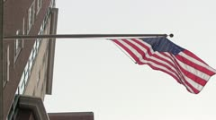 American Flag From A Low Angle Stock Footage