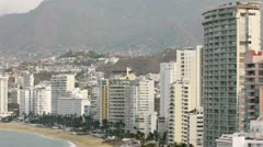 Tall Hotels in Acapulco Mexico Stock Footage