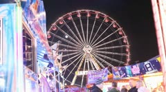 Big Wheel Carnival at Fairground HD File Stock Footage