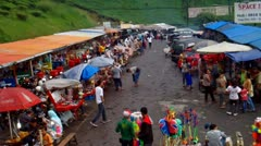 Street Market - stock footage