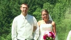 Bridal Party in the Field 2 Stock Footage
