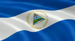 Nicaraguan flag in the wind Stock Footage