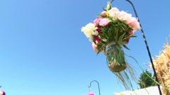 Wedding Aisle Bouquet Flowers - stock footage