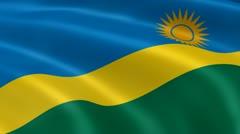 Rwandan flag in the wind Stock Footage