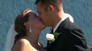 Tying the Knot Kiss Stock Footage
