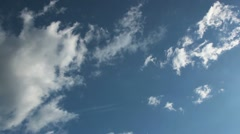 Looping Fast Moving Clouds on Blue Sky Stock Footage