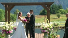 Wedding Ceremony Zoom Out Stock Footage
