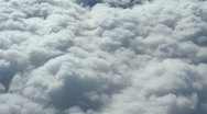 Flying Over Clouds Stock Footage