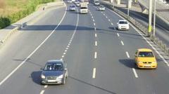 Multilane motorway Stock Footage